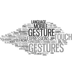Gesture word cloud concept vector