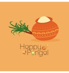 Happy pongal background vector