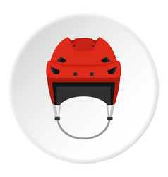Hockey helmet icon circle vector