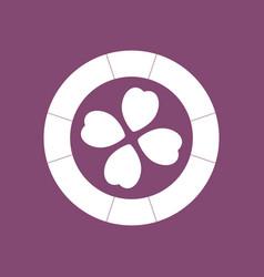 Icon casino chip vector