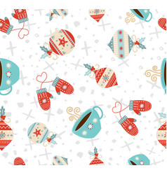 Merry christmas winter holiday seamless pattern vector