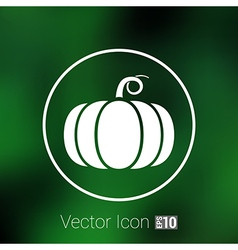 monochrome of pumpkin logo vector image