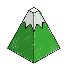 Mountain isometric isolated icon vector