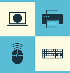 Notebook icons set collection of web computer vector