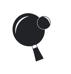 Ping pong sport racket and ball hobby vector