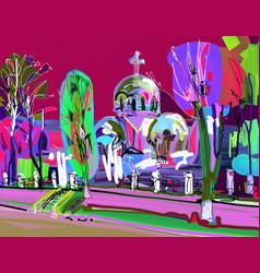 plein air contemporary creative artwork vector image vector image