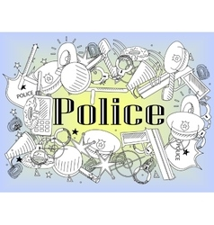 Police coloring book vector image