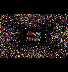 Purim card carnival paper confetti background vector