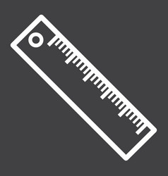 Ruler line icon education and school vector