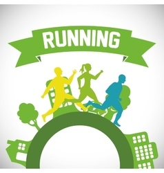 runner athlete running design vector image
