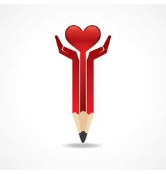Save life concept with pencil hands vector image