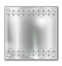 silver plate vector image vector image
