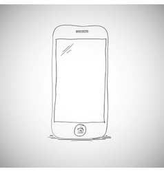 Smart phone sketch vector image