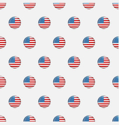 stars and stripes seamless pattern usa vector image
