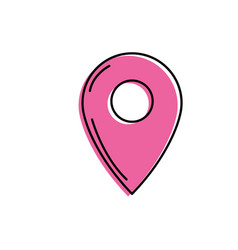 symbol ubication to explore map location vector image