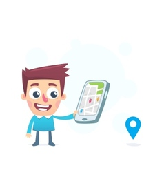 Use gps navigation on the tablet vector