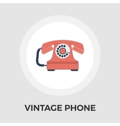 Vintage phone flat icon vector image vector image