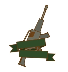 Weapon icon image vector