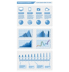 Infographics elements with schedules vector image