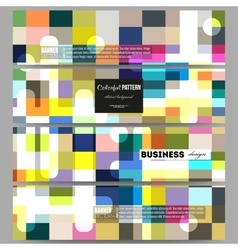 Banners set abstract colorful business vector