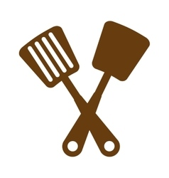 Kitchen set cutlery tools icon vector