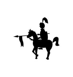 Black rider on a horse vector