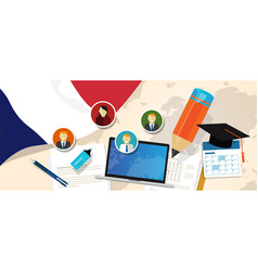 France education school university concept with vector