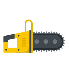 chainsaw icon isolated vector image