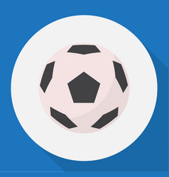 of healthy symbol on football vector image