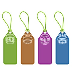 Set of easter shopping tags with egg ornaments vector