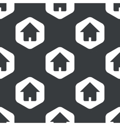 Black hexagon home pattern vector image