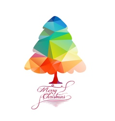 We wish you a merry christmas with geometrical vector