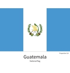 National flag of guatemala with correct vector