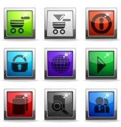 Web site icon set vector