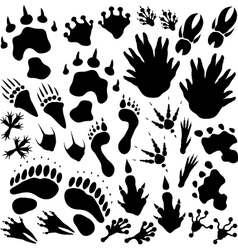 Alien monster footprints vector