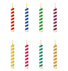 candles for the birthday cake vector image vector image