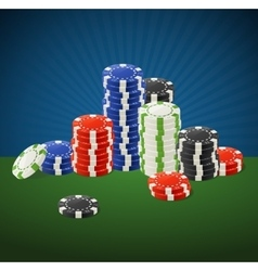 Casino Gambling Chips Stacks vector image