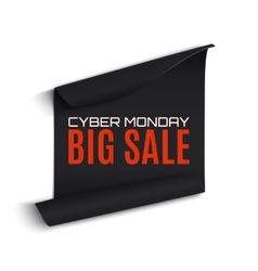 Cyber monday sale curved paper banner vector