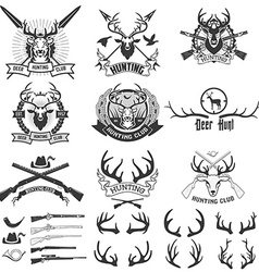 Deer hunting club vector image
