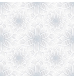 Floral seamless pattern with flower chrysanthemum vector image