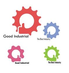 Gear hand icon design vector