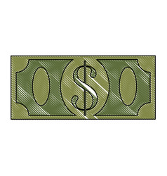 Money billet isolated vector