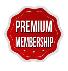 Premium membership label or sticker vector