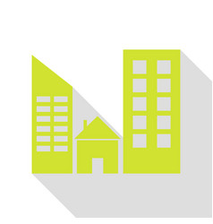 Real estate sign pear icon with flat style shadow vector