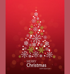 red defocused background with christmas tree vector image vector image