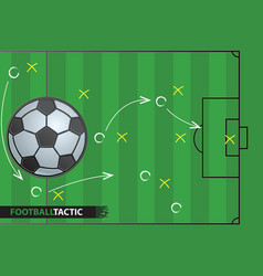 Soccer game strategy plan football background vector