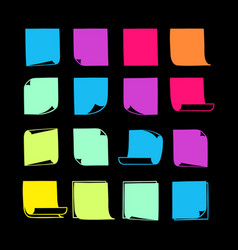 Sticky notes collection-08 vector