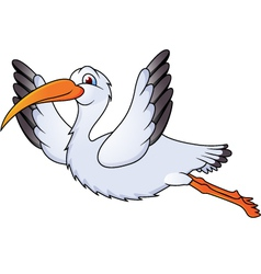 stork in flight vector image