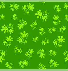 Summer leaves seamless pattern vector