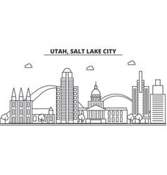 utah salt lake city architecture line skyline vector image